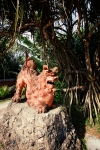 Okinawa Nov 2013, Shisa, clay lion-dog at Ryukyu Mura