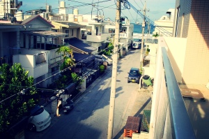 Sunabe Seawall from my daughter's bedroom window, 2004