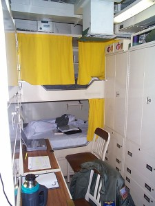 My initial 2-man stateroom on USS Essex.  I moved to a larger room later in the deployment.