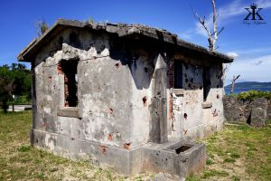 Ishigaki Vacation 2014, Denshinya (Imperial Japanese Army Telegraph Station), bullet scars remain WM