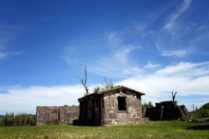 Ishigaki Vacation 2014, Denshinya (Imperial Japanese Army Telegraph Station), war-torn decaying structure