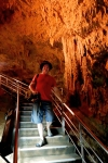 Okinawa World 2014, Gyokusendo Cave, Kevin dropping down into the caves