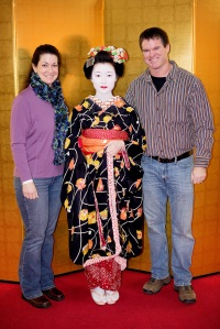 Me and Jody with our performing Maiko for the night.