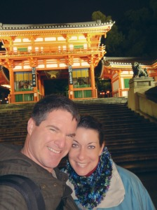 Me and Jody in front of the Yasaka Shrine