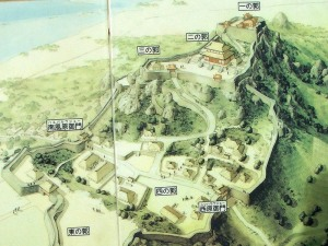 Artistic Impression of Katsuren in its Heyday.