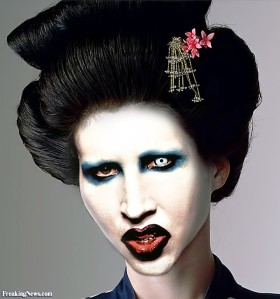 Well, I was wrong.  Manson as a Geisha is indeed worse....