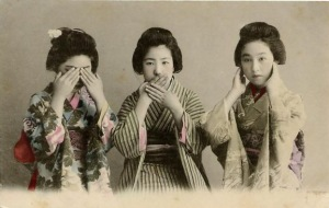 vintage geisha girls