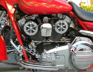 Can you spot the Love Jugs on this Harley?  It must be cold out (wink)....