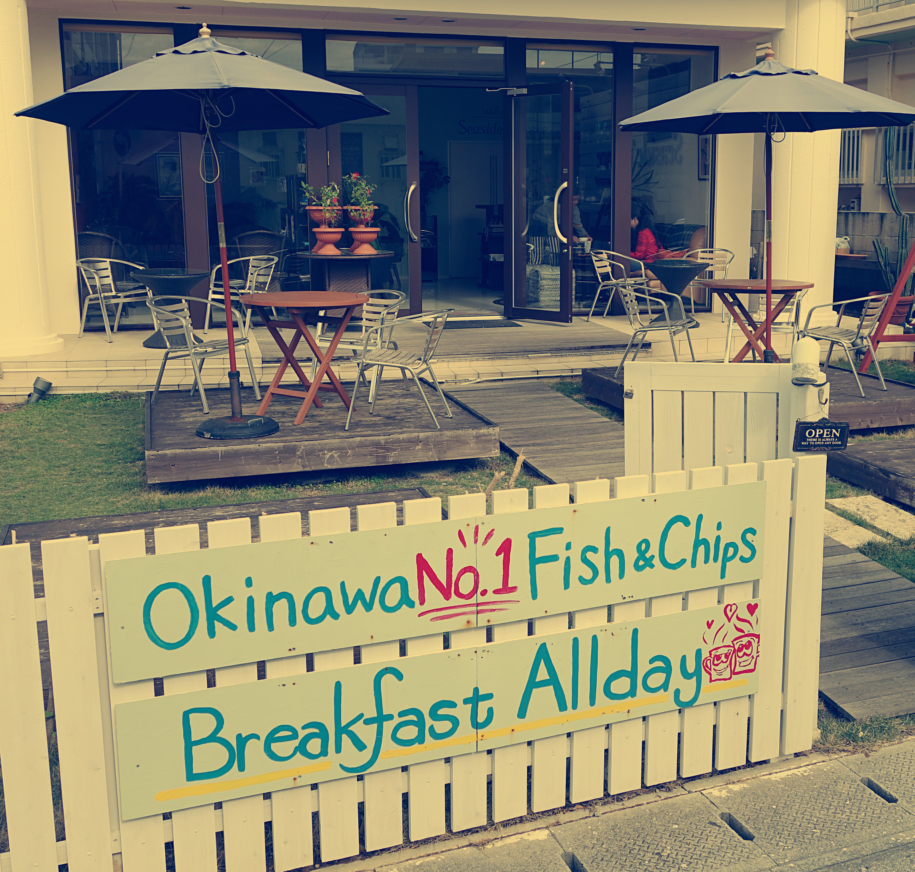 Okinawa eats seaside terrace far east fling for Terrace fish and chips