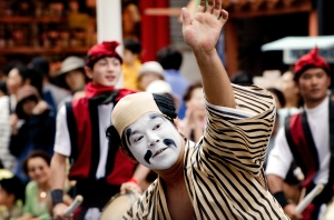Shurijo Castle Festival 2014, Ryukyu Dynasty Parade, Eisa ghost dancer
