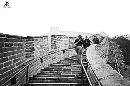 China 2014, Great Wall, Jody on the climb into the heavens