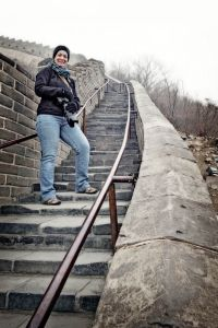 China 2014, Great Wall, Jody thinks it's lonely near the top