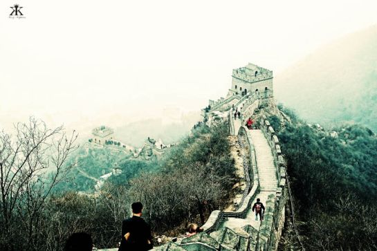 China 2014, Great Wall, ridge-line wall trace (low key)