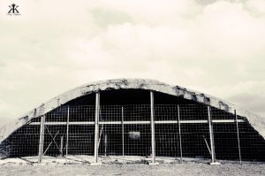 Okinawa Battlesites 2014, Yomitan Aircraft Shelter, arched shelter WM