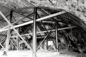 Okinawa Battlesites 2014, Yomitan Aircraft Shelter, roughed and reinforced internal structure 2 WM