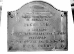 Traces of War 2015, Ie Island, Ernie Pyle monument plaque from the USS Cabot