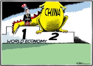us-and-china-comic-drawing-about-leading-world-economy