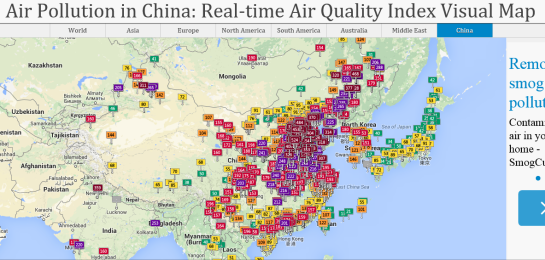 Real-Time Air Quality in China, 4 Feb 2015.