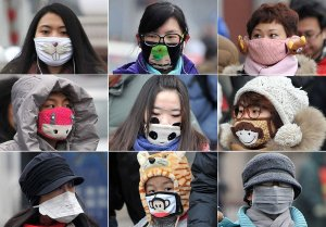 Unlike Japan, where masks are wore to prevent disease transmission, in China they are intended to help prevent lung cancer....