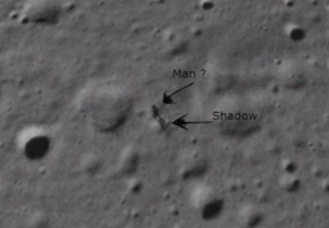 A Supposed Photo of an Alien Walking on the Moon