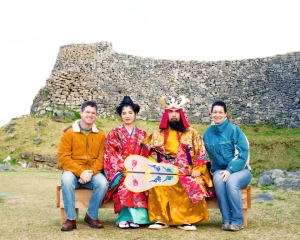 The Kings hangin' with the Ryukyu King at Nakijin Castle