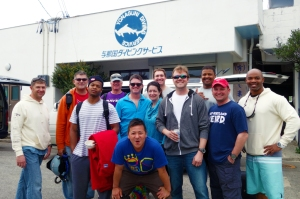 Yonaguni Japan 2015, group shot at YDS at the end of our adventure