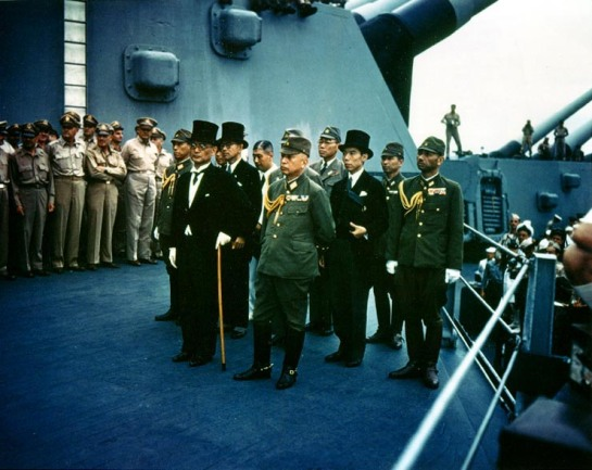 Japanese Delegation on the USS Missouri