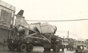 Mace Missiles being Transported through Gushikawa Village, Okinawa