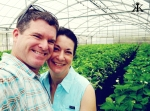 Okinawa Apr 2015, Strawberry Picking, couples' greenhouse selfie WM