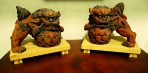 My dated - and damaged - set of Shisa from 2001