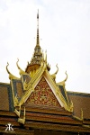 Cambodia 2015, Phnom Penh, Royal Palace and Silver Pagoda, Khmer rooflines 2 WM