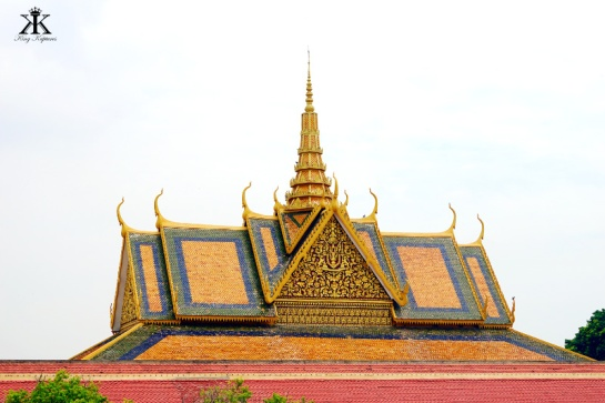 Cambodia 2015, Phnom Penh, Royal Palace and Silver Pagoda, Khmer rooflines WM