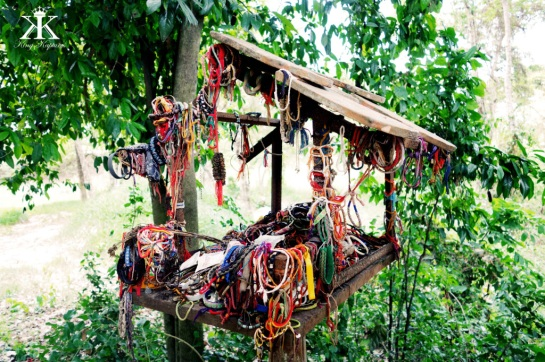 Friendship Bracelets left in a Spirit House