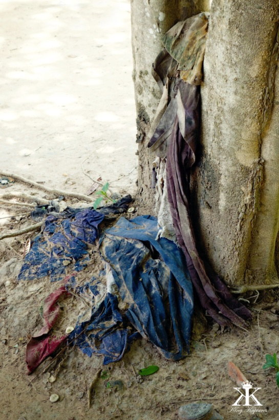 Victim's clothes still litter the grounds.
