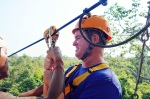 Cambodia 2015, Flight of the Gibbons Zipline, Kevin hooked up