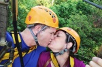Cambodia 2015, Flight of the Gibbons Zipline, kiss on the honeymoon lines 2