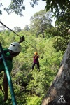 Cambodia 2015, Flight of the Gibbons Zipline, zipping through the jungle WM