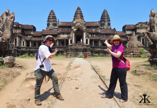 Cambodia 2015, Angkor Wat, arriving at Angkor Wat! 2 WM