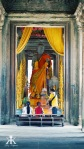 Cambodia 2015, Angkor Wat, Buddha in the central tower WM