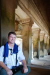 Cambodia 2015, Angkor Wat, Kevin resting at the top level