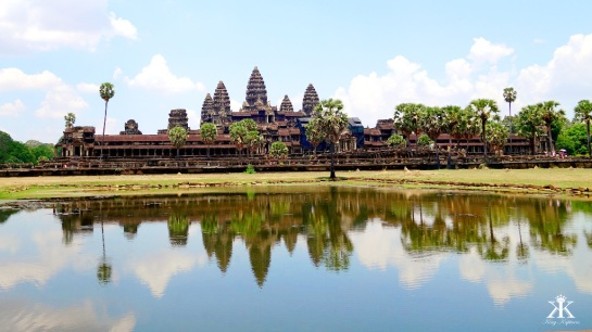 Cambodia 2015,  Angkor Wat, reflecting WM