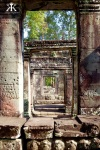 Cambodia 2015, Banteay Kdei, doorways WM