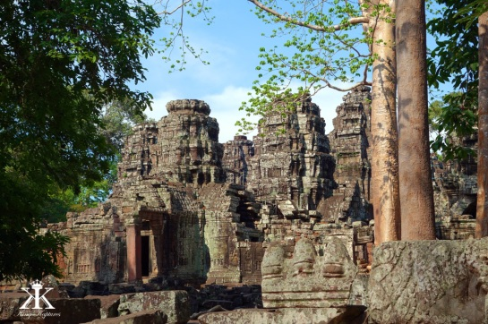 Cambodia 2015, Banteay Kdei, ruins by the jungle 2 WM