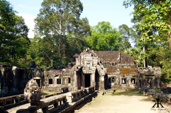 Cambodia 2015, Banteay Kdei, tranquil wooded ruins WM