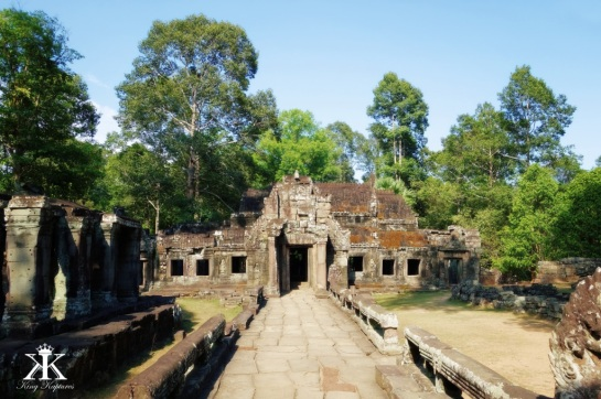 Cambodia 2015, Banteay Kdei, wooded ruins WM