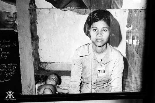 Cambodia 2015, Tuol Sleng Genocide Museum (S-21), mom and baby victims WM