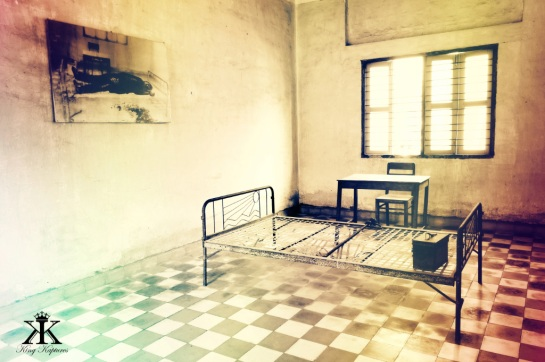 Cambodia 2015, Tuol Sleng Genocide Museum (S-21), VIP cell and torture-murder site 6 WM