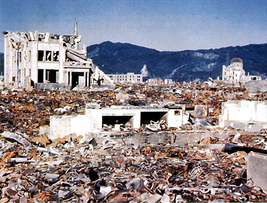 Honkawa can be seen over the Devastation in the Center Background