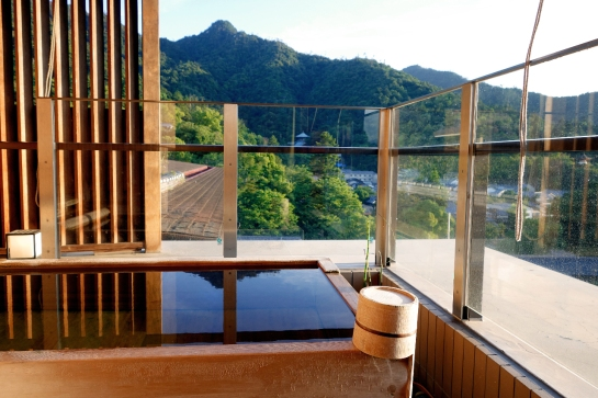 Our Private Outdoor Onsen-Fed Soaking Tub