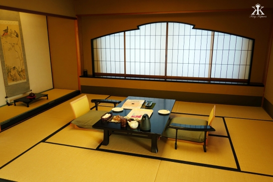 Our Main Tatami Room, set for Tea